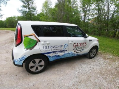 Even the Gadue's vehicles boast about their Ultrasonic Cleaning Technology