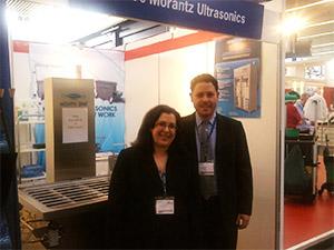 Lisa Morantz and Neal Wiser at the Morantz Ultrasonics booth.
