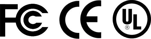 UL FCC CE Logos