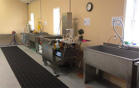 Prewash, Ultrasonic wash, Rinse stations