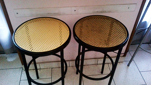 Cleaning Wooden Stools.